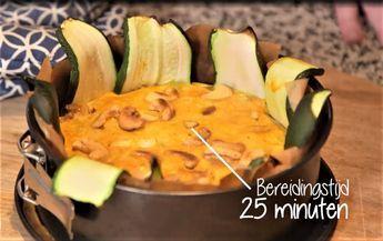 In 25 minuten klaar deze heerlijke koolhydraatarme ovenschotel met kip, prei en courgette je eet meteen super slank en gezond! Ook een favoriet bij de kinderen.