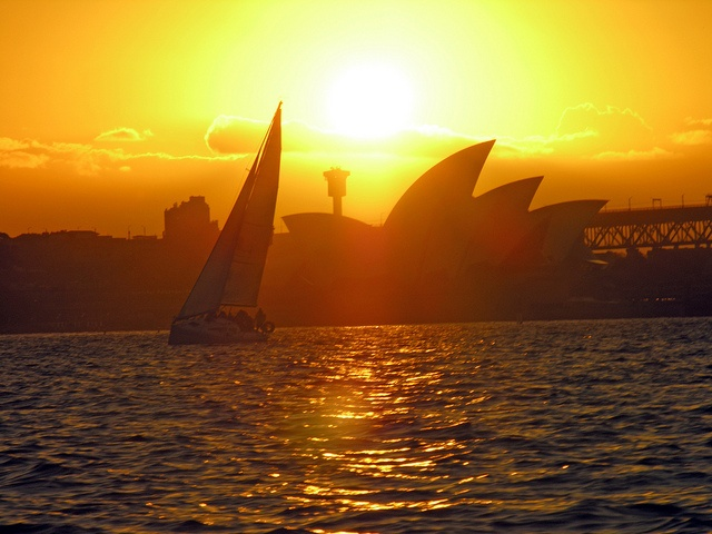 Red sails in the sunset by Roving I, via Flickr