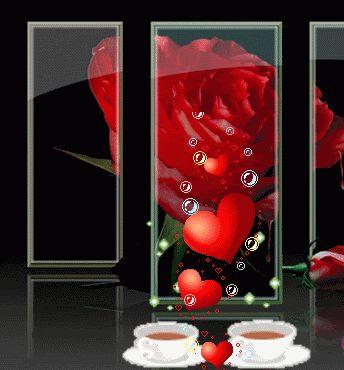 Good Morning love hearts coffee good morning graphic good morning greeting good morning gif