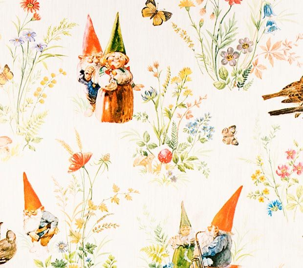Wallpaper showing Rien Poortvliet illustrations for Wil Huygen's Gnome books...   I remember those books. Fantastic!