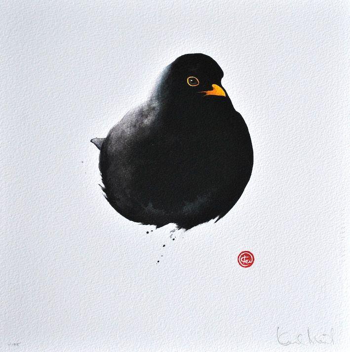 Blackbird by Karl Mårtens - Litografier « Edition Vulfovitch