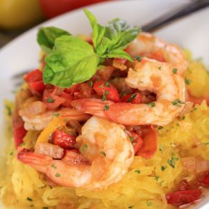 Spaghetti #Squash #Shrimp Medley - Great recipe by Fit Mom Diet!