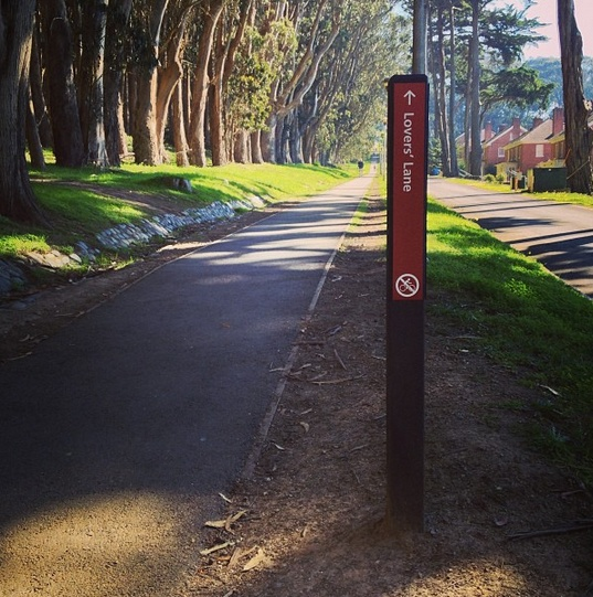 Lovers' Lane Trail | SF begins at Funston Avenue & Presidio Blvd.  Great place run.