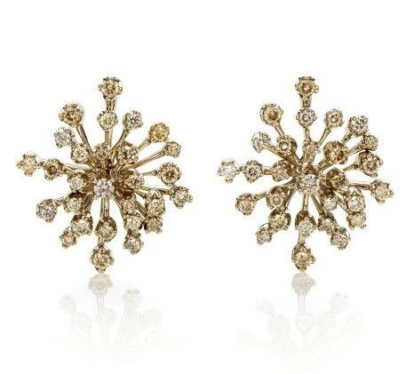 H. Stern Snow Flake Earings