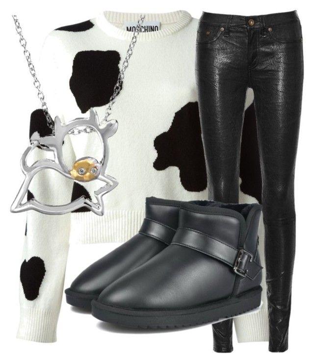 """""""LOOK AT THE D"""" by bubbythenarwhal ❤ liked on Polyvore featuring Moschino, rag & bone/JEAN and SOPHIE MILLER"""