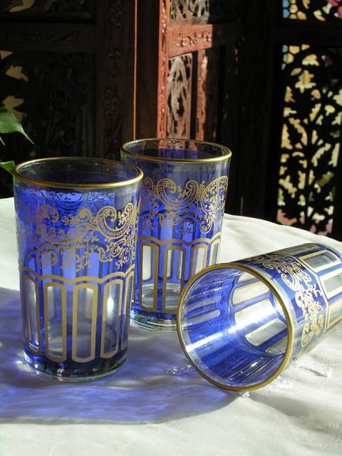 Imagine yourself sitting in the Marjorelle Gardens in Marrakech sipping Moroccan mint tea from one of our pretty tea glasses. http://www.maroque.co.uk/catalog.aspx?p=00450