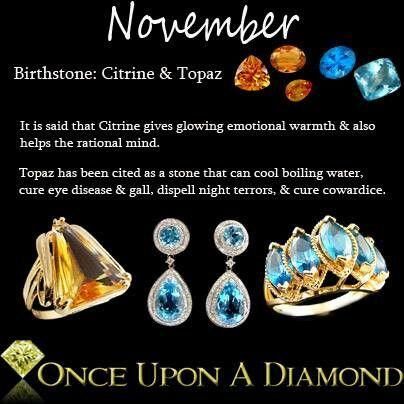 Birth Stone for November Cintrine and Topaz