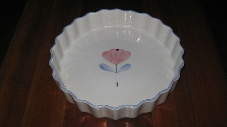 Temuka Pottery Spring Bloom Flan DIsh