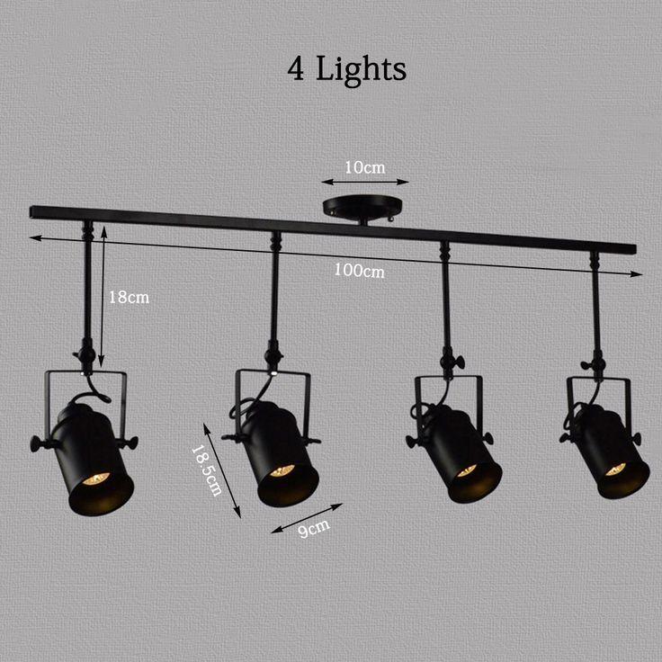 Nueva negro industrial loft luces pendientes l mpara led - Focos led cocina ...