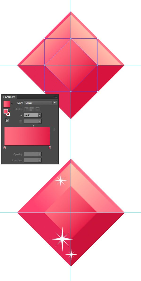 What You'll Be CreatingIn this tutorial we will learn how to create a set of simple yet trendy flat-style gems icons in Adobe Illustrator! Using basic shapes and Ble