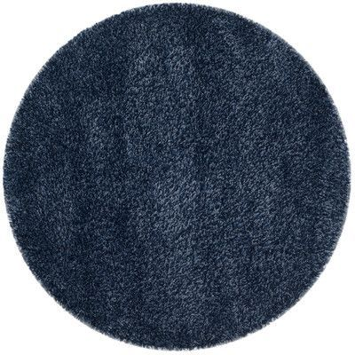 Safavieh Shag Navy Blue Solid Rug Rug Size: