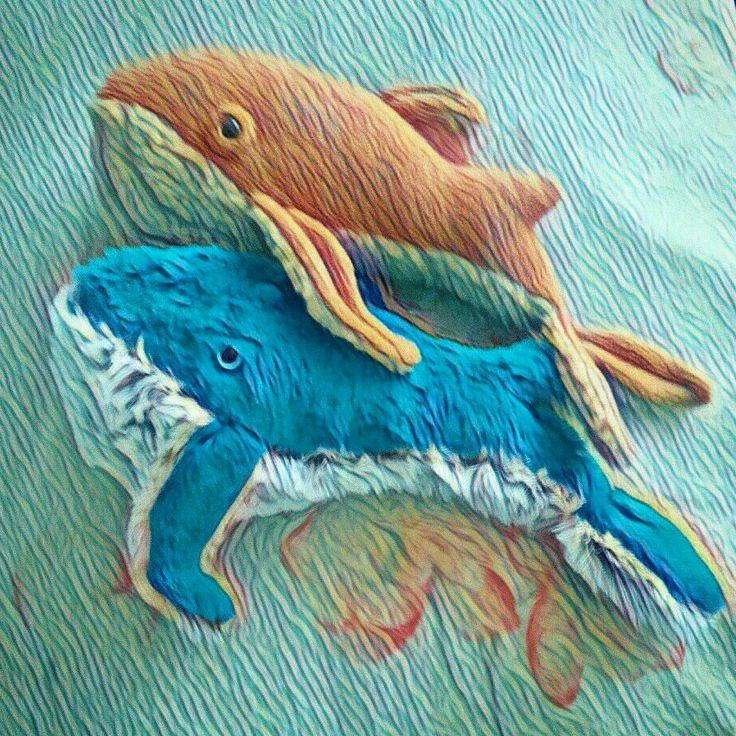 Очаровательная пара китов ищут новый причал))) #кит #киты #рыбы #подводныймир  #ручнаяработа #игрушка #8марта #alisabeydik #handmade