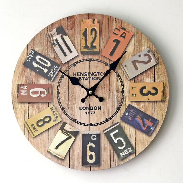 M s de 25 excelentes ideas populares sobre relojes de for Pendule murale industrielle