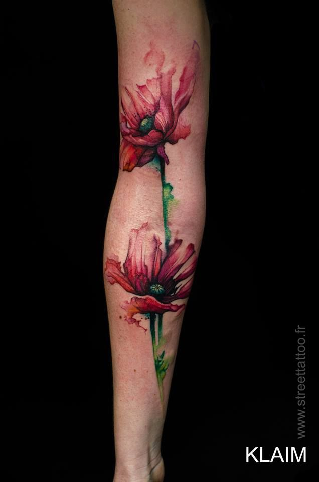Pavot - Poppy / KLAIM (Street Tattoo) / https://www.facebook.com/pages/Street-Tattoo/335394619817091?fref=ts