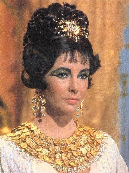 Popularising eyeliner ... Elizabeth Taylor's kohl-lined eyes in Cleopatra.