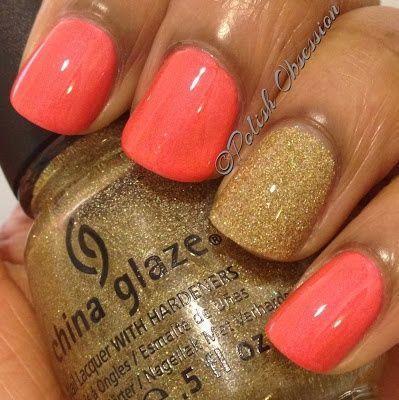 China Glaze Flirty Tankini and Angel Kiss ,