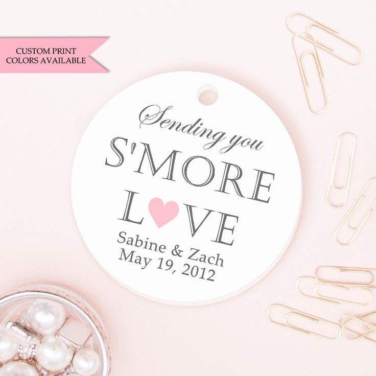 Smore tags (30) - Smore love tags - Smore wedding favors - Wedding favor tag - Wedding tags - Sending you smore love tags by DazzlingDaisiesCo on Etsy https://www.etsy.com/listing/203271702/smore-tags-30-smore-love-tags-smore