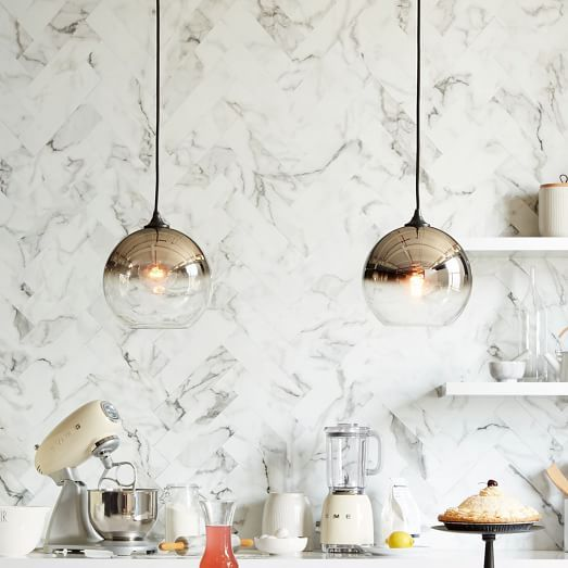Ombre Mirrored Pendant | west elm. Are these good? Kitchen? They are on sale now.