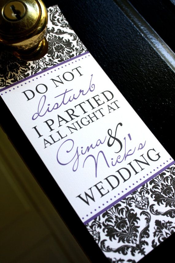 14 best images about Printables for wedding on Pinterest Free - wedding door hanger template