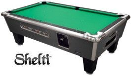 Shelti Bayside Charcoal Matrix Coin-Operated Pool Table