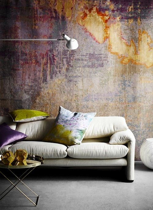 dont know if this was created with paint or if it is a rug! But, it is beautiful. WABI SABI Scandinavia - Design, Art and DIY.: Trendspotting: walls. Trendiga väggar