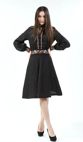 Чорне плаття з кольоровою вишивкою арт. 13-17 00 купити в Україні і Києві  -інтернет-магазин одягу Едельвіка  dress  newdress  dressup … f18f12fb2c17f