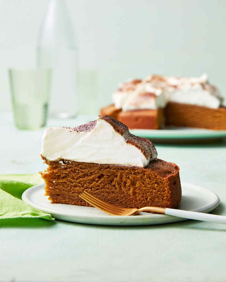 Pumpkin-Spice-Latte Cake   Martha Stewart Living - This espresso- and spice-scented cake has the dense, moist texture of a gingerbread.