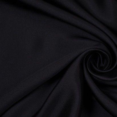 Jet Black Silk Wool Fabric by the Yard | Mood Fabrics