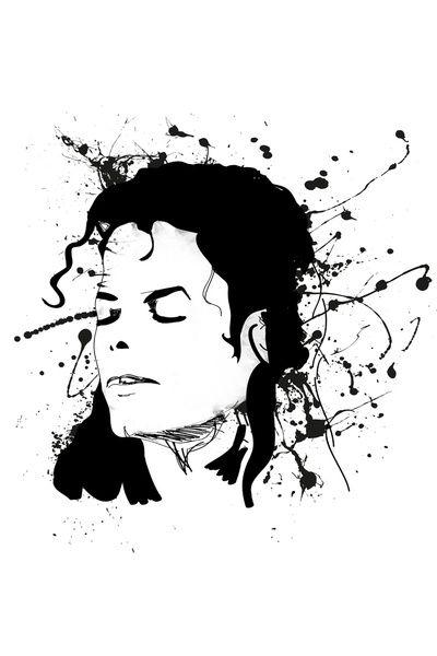 майкл джексон черно белый рисунок кто-то нас еще