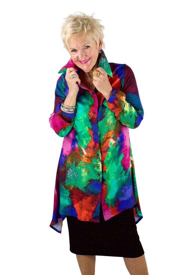 "Lousje & Bean ""Shirt"" in Colour with Pencil Skirt Spring/summer 2017 Collection #lousjeandbean #theshirt #rainbow #bestshirt #essentials #pencilskirt #spring2017"