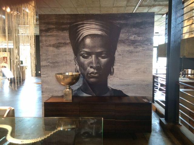 Black and White Zulu Woman at Weylandts.