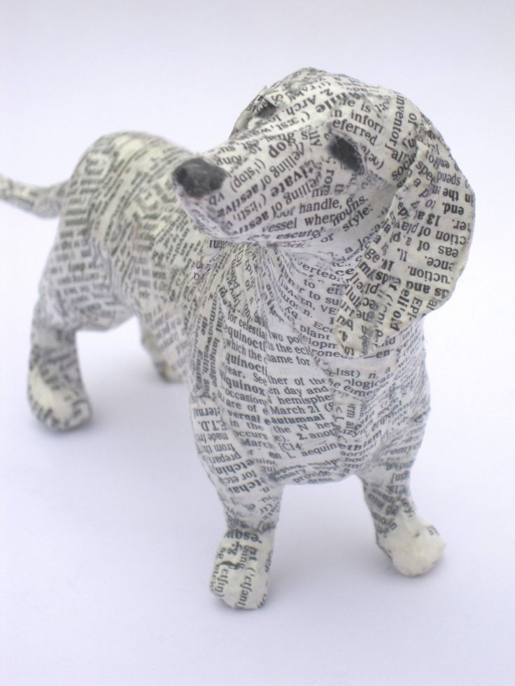 91 best diy teckels images on pinterest doggies for Making paper mache animals