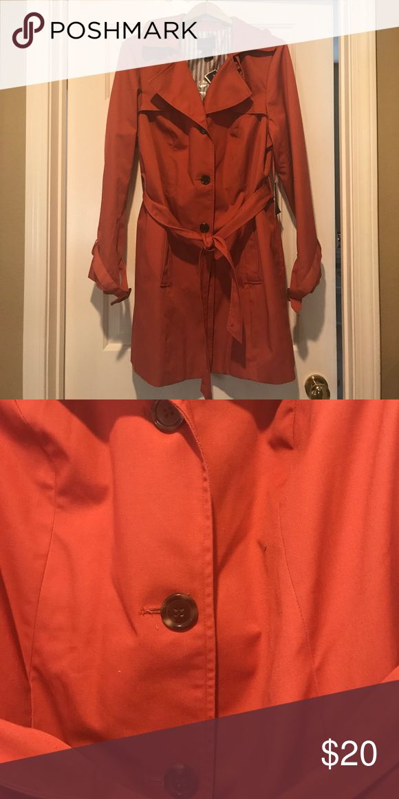 plus size 3/4 trench coat Cynthia Rowley plus sized Rust color jacket that can be worn during Fall or early Spring.                           -Lined -medium weigh -waist sash -adjustable straps at wrist -split in back -lapels -cotton/poly blend Cynthia Rowley Jackets & Coats Trench Coats