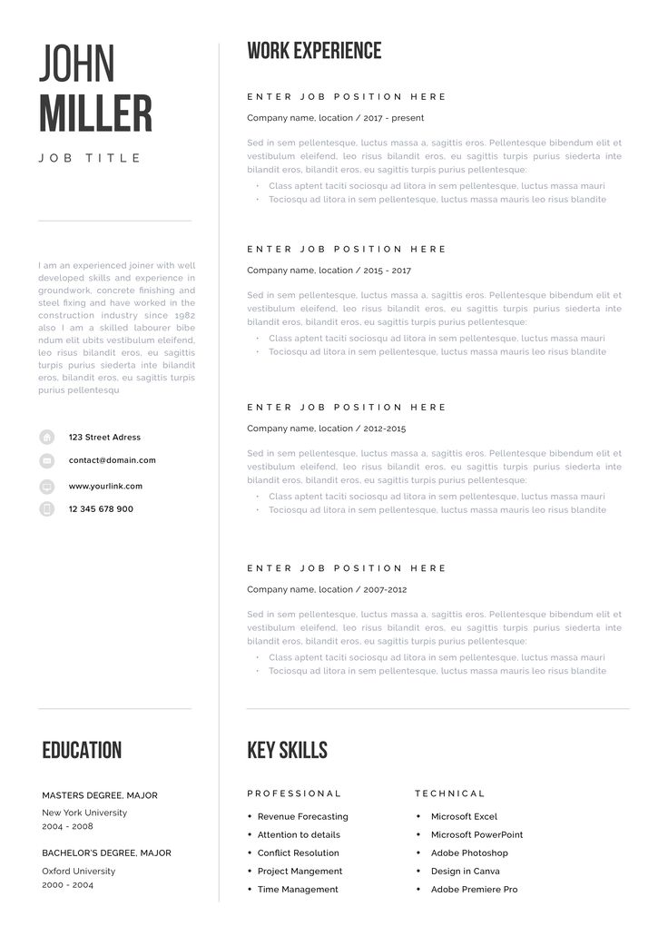 luxembourg cv template