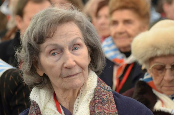 Former Auschwitz Prisoner Zofia Posmysz was one of the speakers during the ceremony of the anniversary of the liberation of Auschwitz.