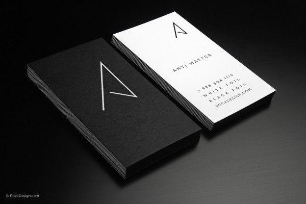 Minimalist modern black and white business card - Anti matter