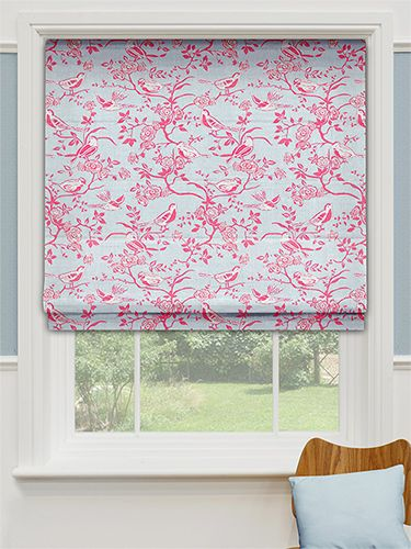 Songbird China Blue Roman Blind from Blinds 2go