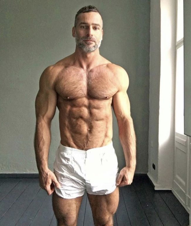 Older Muscular Guy With A Hot Hairy Chest Hairychest  -6864
