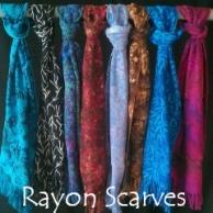 Baker's Dozen of Island Batik Rayon Scarves