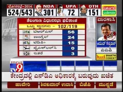 TV9 Live: Lok Sabha Elections 2014 Results - Part 11