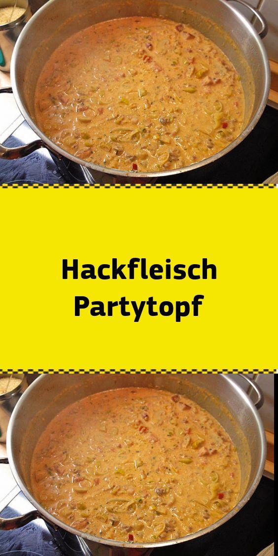 Hackfleisch Partytopf
