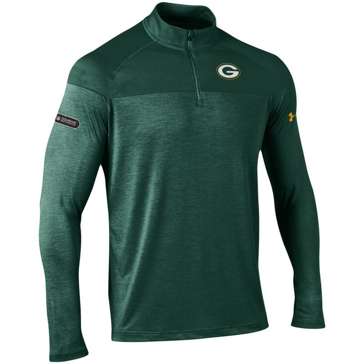 Green Bay Packers Under Armour Combine Authentic Novelty Tech Quarter-Zip Pullover Jacket - Green