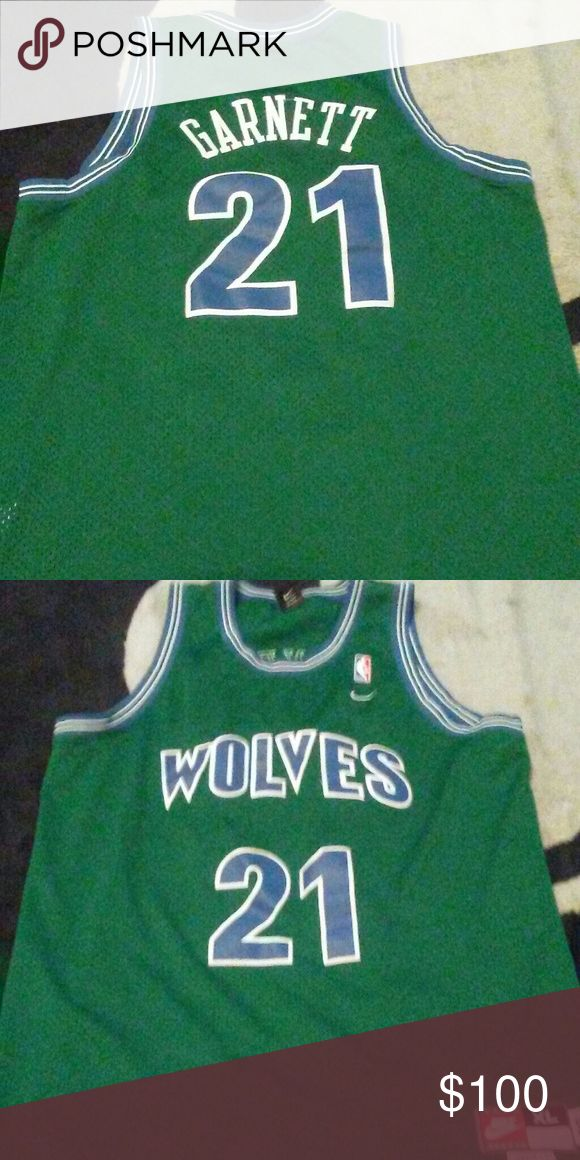 Kevin Garnett Jersey sz XL Authentic Nike throwback Kevin Garnett Jersey 10/10 condition sz XL Nike Shirts Tank Tops