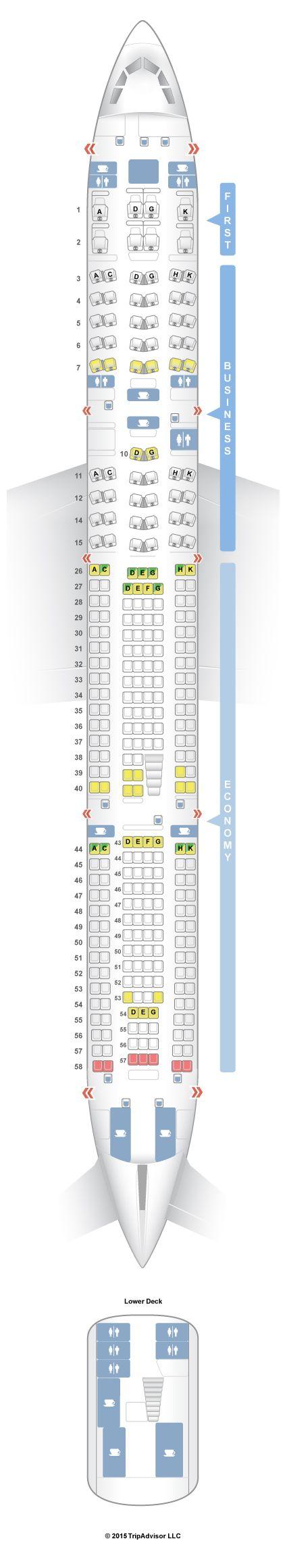 SeatGuru Seat Map Lufthansa Airbus A340-600 (346) V2