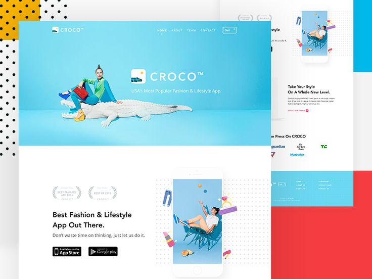 CROCO - App Landing Website