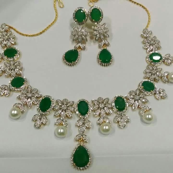 From the Emerald collection ..A class apart necklace set in diamonds and emeralds here@Vinorisa..which will make you stand out in a crowd..#emeralds#love#likes