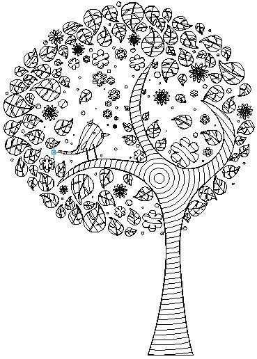 Dibujos Para Colorear De Arboles Plantillas Para Colorear Of Arbol ...