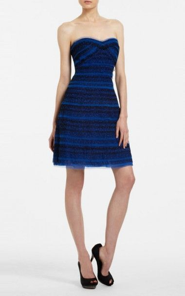 Bcbg dresses black and blue