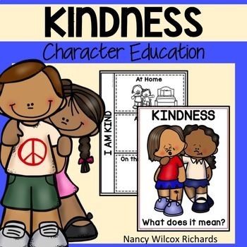 Kindness Character Education activities, game, posters, writing prompts, readers and more! Use this character education resource to help raise the awareness about kindness. Most activities are NO PREP! This is part of: Character