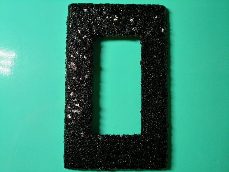 Decorative Chunky Black Glitter / Bling Light Switch Plates, Rockers & Outlet Covers / Noir Glamorous Gothic / Dark Sparkly Bedroom Décor by VampedByVivian on Etsy